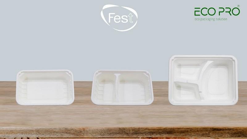 khay giấy đựng thực phẩm fest eco-pro