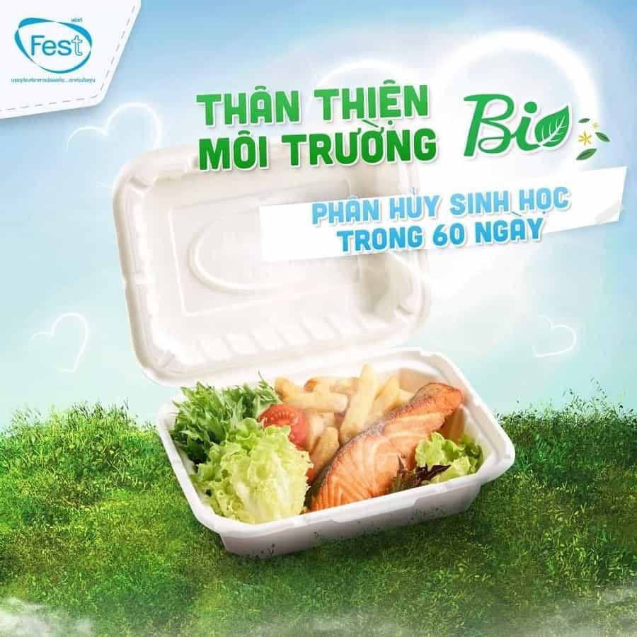 hộp đựng đồ ăn bằng giấy thân thiện môi trường