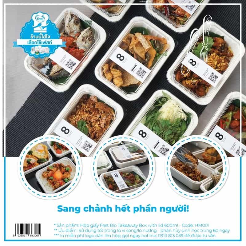 sản phẩm hộp giấy đựng thực phẩm tại eco pro