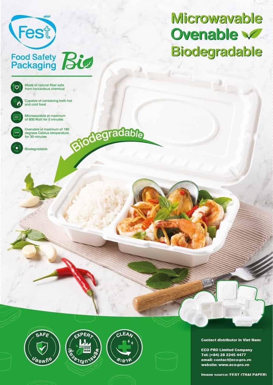 mua hộp giấy fest đựng thức ăn tại eco pro