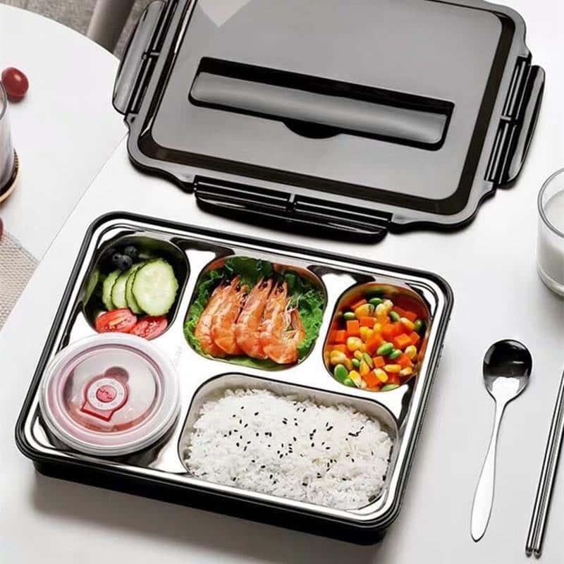 hộp kim loại đựng thức ăn