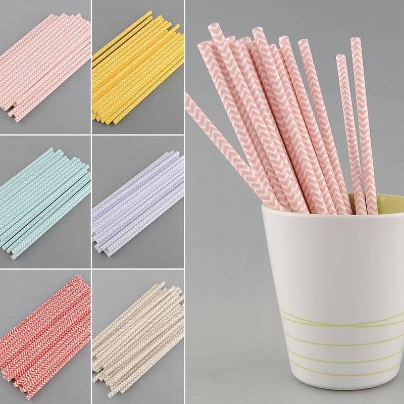 cân nhắc về màu sắc ống hút giấy