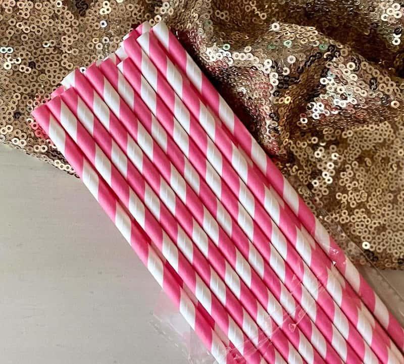 mẫu ống hút giấy nhiều màu