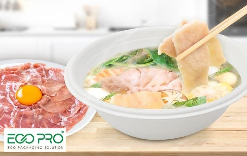 tô giấy đựng thức ăn tại eco pro